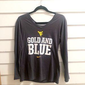 ✨Nike✨-West Virginia Gold and Blue Slim Fit Shirt